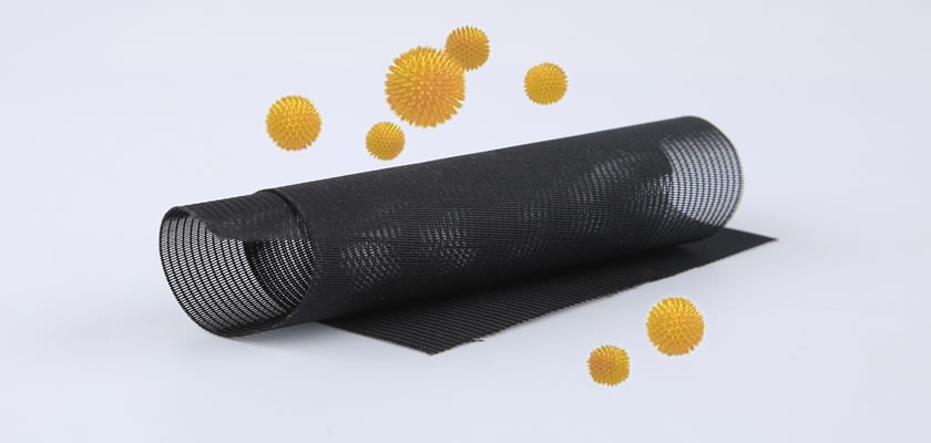It is a picture of real product - a black anti-pollen screen mesh roll which is around by pollen.