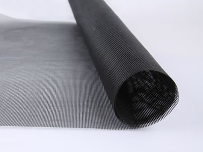 There is a roll of anti-dust window screen mesh in black and you can see its details clearly.
