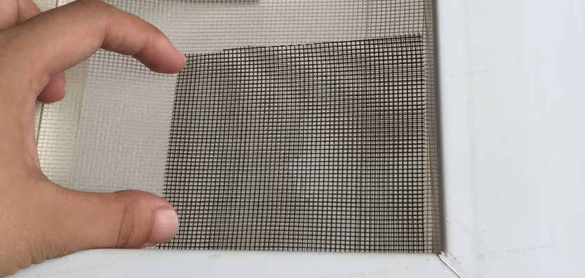 One is covering the hole with the piece of screen mesh and keep it fixed manually.