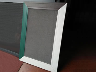 SS insect screen is installed on a window frame which has three colors.
