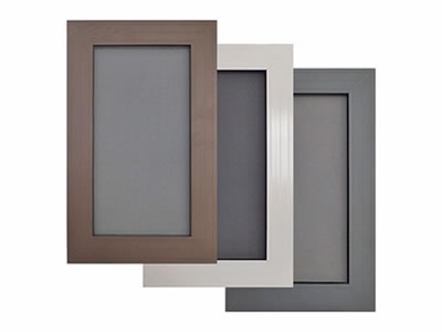 There are three window frame in different colors and materials, all of which are equipped with SS window screen.