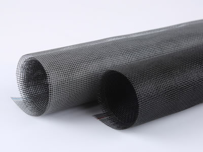 There are two rolls of anti-dust window screen, and one is black, the other is gray.