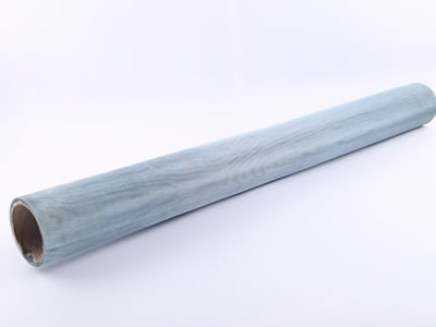 It is a roll of galvanized window screen in zinc plating-blue white.